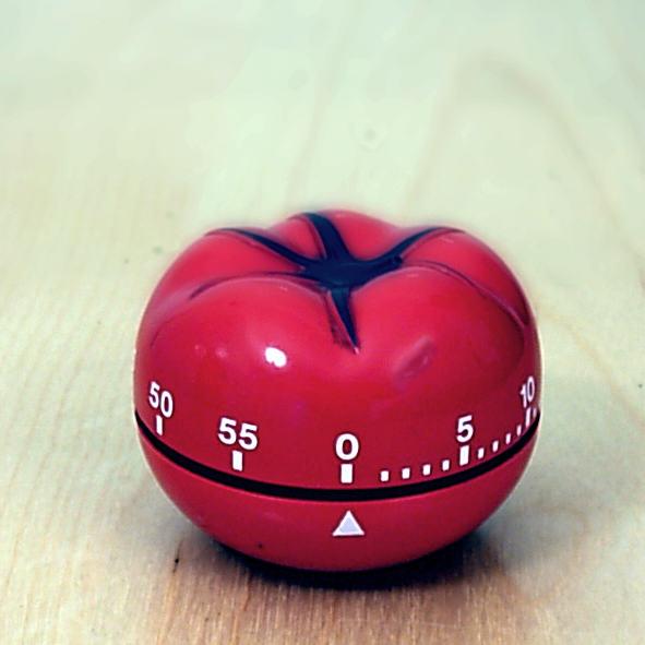 casovac pre pomodoro koncept