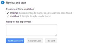 review google content experiment